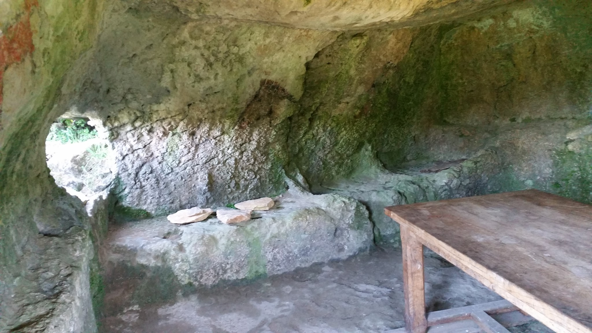 Interior d'una garida troglodita