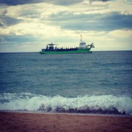 fòto presa despuish la plaja de la Barra a Anglet